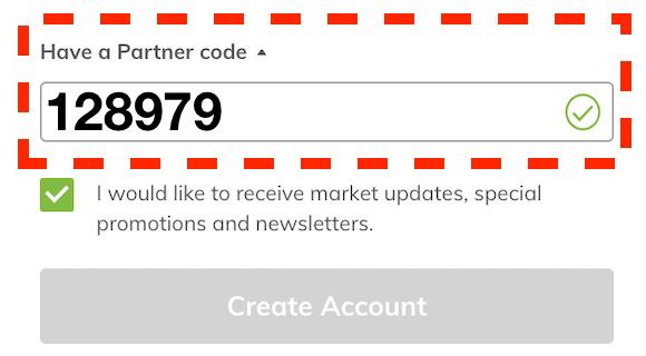 AvaTrade have partner code