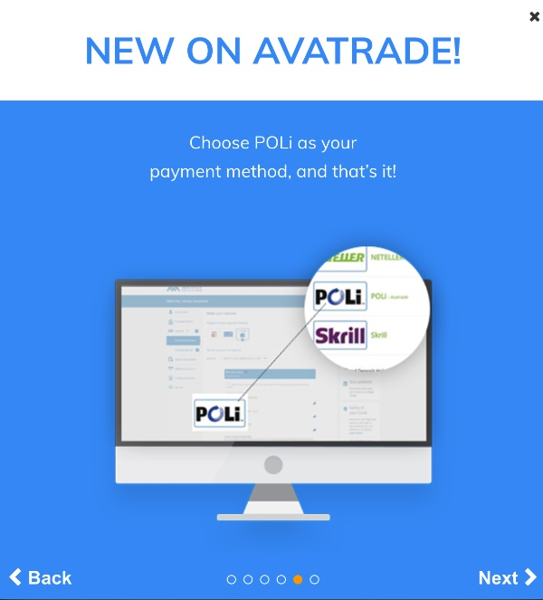AvaTrade POLi - Choose POLi as your payment method, and that's it!