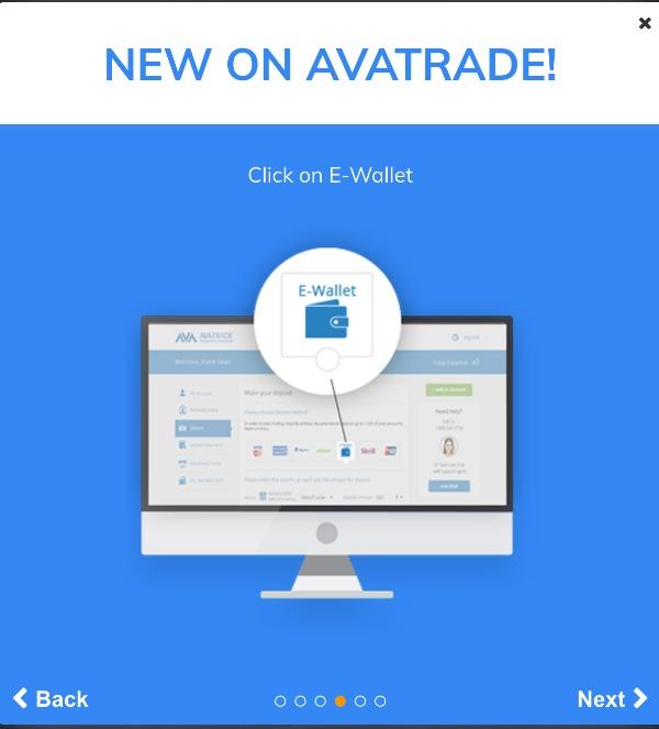 AvaTrade - POLi - Click on E-Wallet
