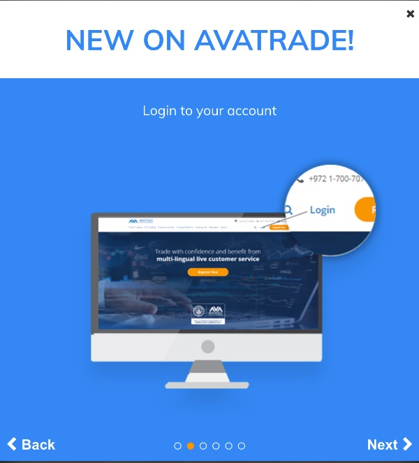 AvaTrade - To use POLi - Login to your account