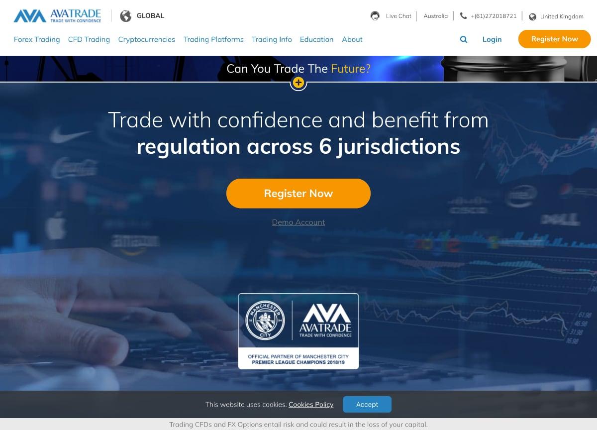 AvaTrade home page - AvaTrade review tradetheday.com