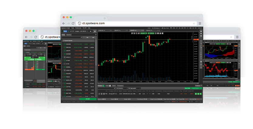cTrader Web Trading Platform. This is a version of cTrader that works within your Internet browser.