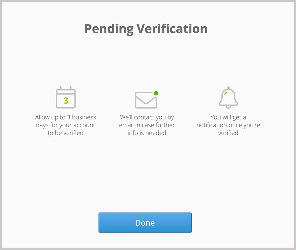 eToro Pending Verification