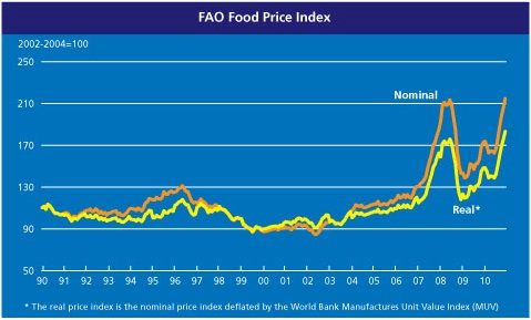 FAO food price index