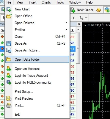 MetaTrader4 Installing EA Indicators