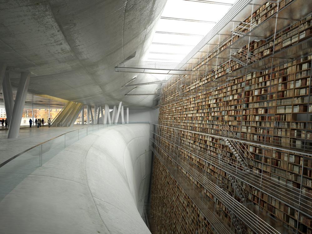 Stockholm library model render