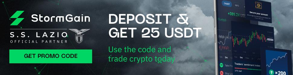 StormGain 25 USDT PromoCode