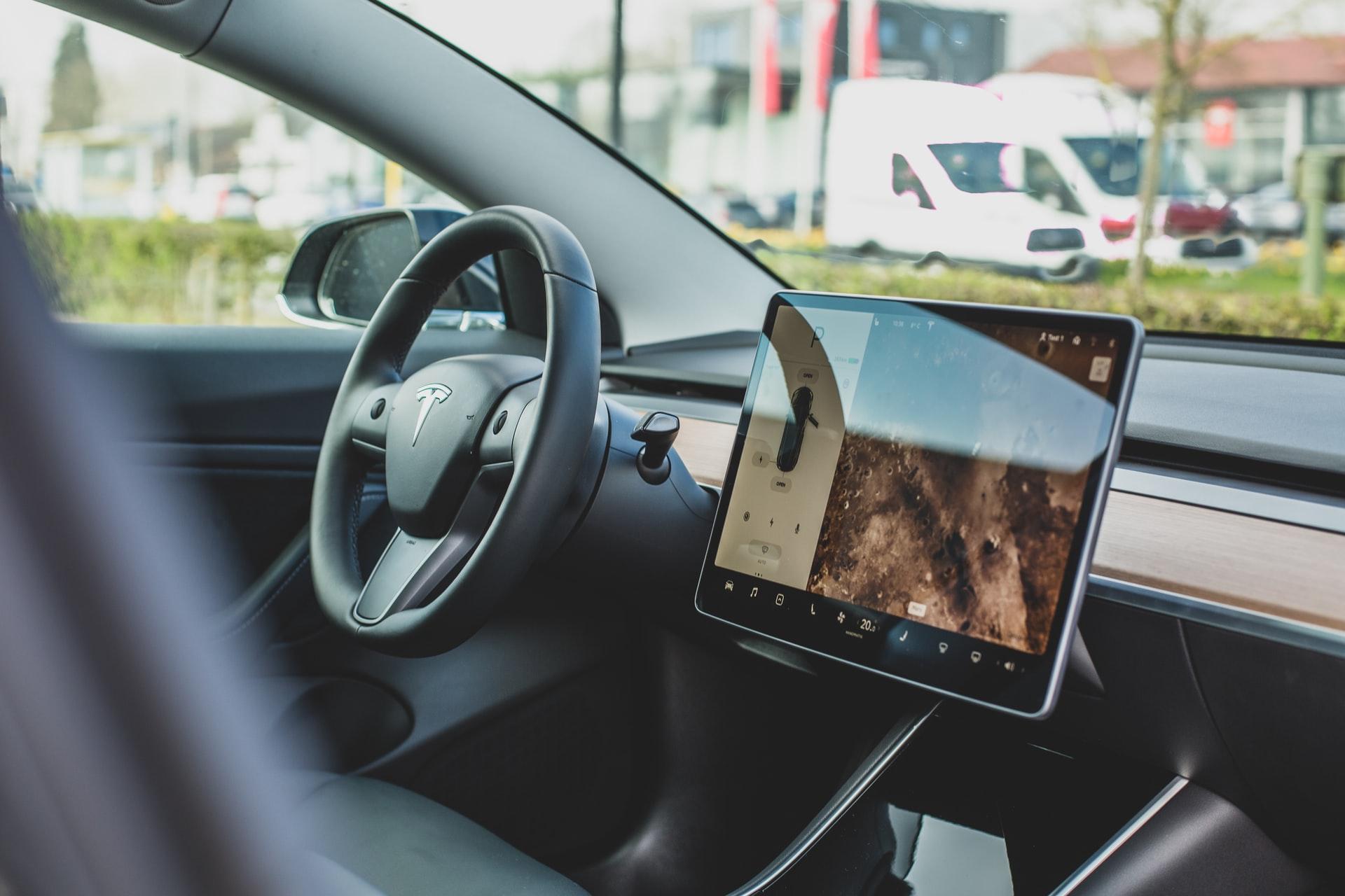 $TSLA Tesla Car Cashboard